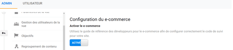 Configuration du e-commerce 2