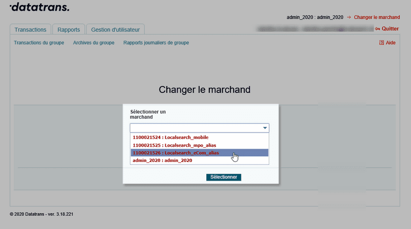 changer le marchand