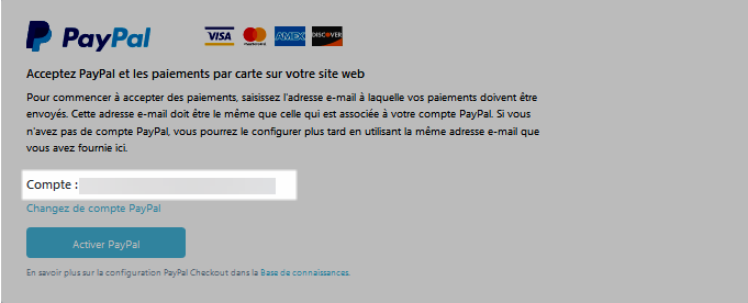 Activer PayPal