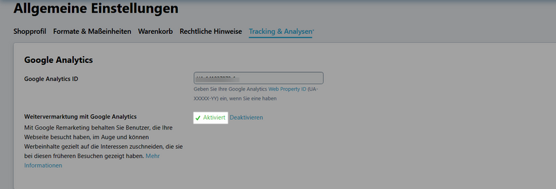 Remarketing mit Google Analytics aktivieren